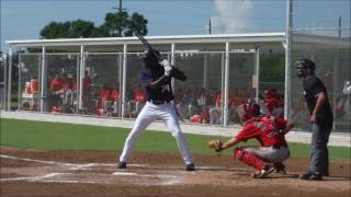 Minnesota Twins propsect Isaiah Aluko hitting in Instructional League 9/24/2016