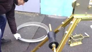 Станок для выравнивания проволоки и полосы (5 ведущих роликов) от компании ЭЛ-ФОРТ, ООО - видео