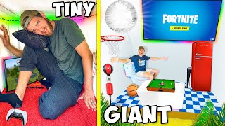 Tiny vs GIANT Overnight Gaming Forts!