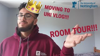 MOVING TO UNI VLOG|| UNIVERSITY OF NOTTINGHAM||ROOM TOUR