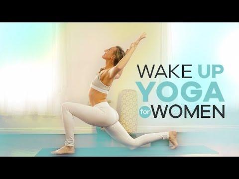 Beginner Morning Yoga for Women   10-Min   Energizing Wake Up Vinyasa Flow