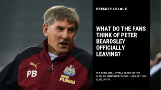 Why has it took so long for the club to announce Peter Beardsley has left?