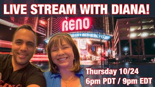 $1000 Livestream w/Diana @ Peppermill!!