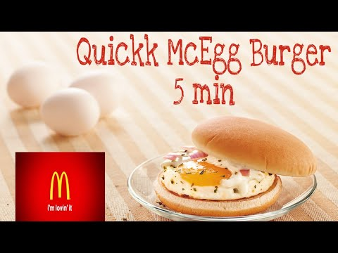 McDonald's McEgg burger/5 मिनट में बनाये mcdonald का mcegg बर्गर