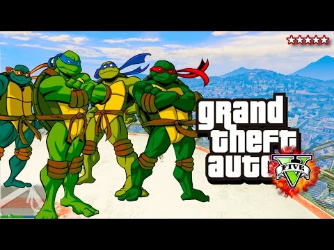 GTA 5 NINJA TURTLES Rescue Special! - Teenage Mutant Ninja Turtles GTA! - GTA5 (GTA 5 Ninja Turtles)