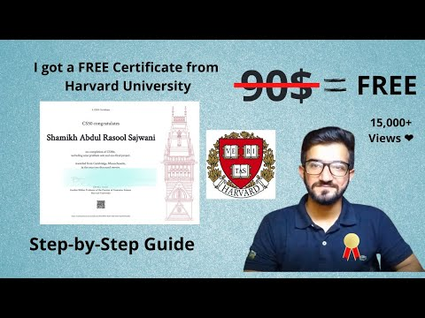 How I got a FREE Certificate from Harvard University (Step-by-Step Guide) | Free Online Courses