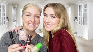 FULL FACE USING MY MOM'S MAKEUP!!