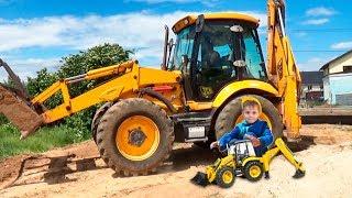 Tractor Excavator Ride on Power Wheel Трактор-Экскаватор Машинки для мальчиков