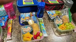 SCHOOL LUNCH IDEAS WEEK 1 ~ BENTO BOX STYLE SCHOOL LUNCH