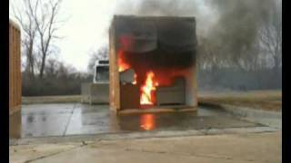 Fire protection demonstration