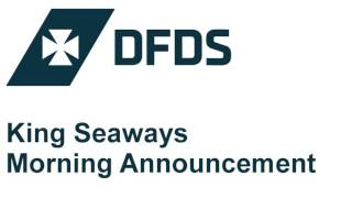 DFDS Seaways - King Seaways - Morning Announcement