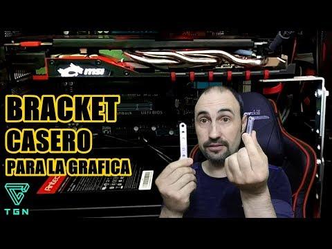 BRACKET PARA GPU CASERO SOPORTE PARA GRAFICAS O SUJECIONES.