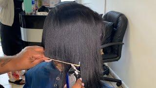Silk Press And Bob Cut | Natural Hair