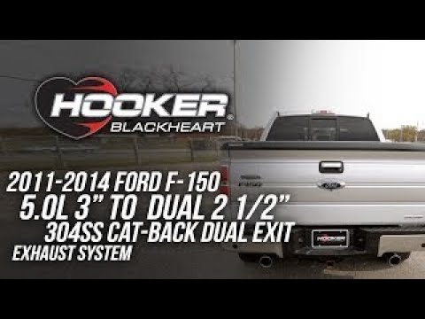 2011-2014 Ford F-150 5.0L - Hooker Blackheart Cat Back Exhaust System 70503440-RHKR