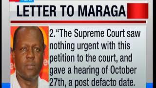 Morning Express: Raphael Tuju's letter to CJ Maraga