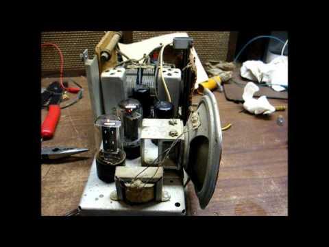 1938 Silvertone Tube Radio Repair 1 - смотреть онлайн на Hah