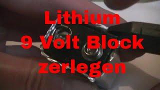 Lithium 9 Volt Block Batterie zerlegen - eflose #792
