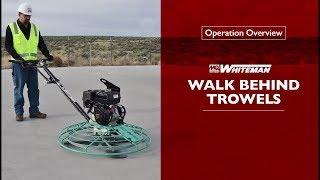 MQ Whiteman Walk Behind Trowels Operation Overview