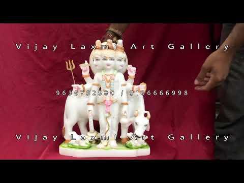 Designer Marble Dattatreya Statue