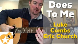 Does To Me | Luke Combs  Eric Church | Beginner Guitar Lesson