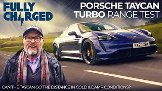Porsche Taycan Turbo Range Test in Cold & Damp Conditions | 100% Independent, 100% Electric