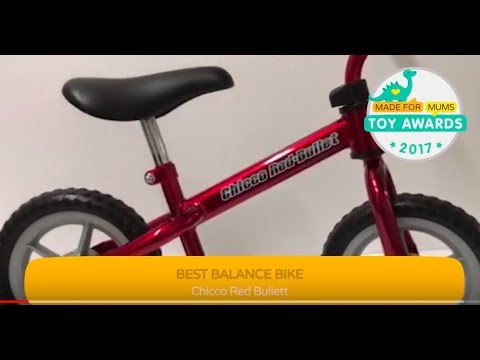 Chicco Red Bullet Balance Bike, Gold Winner, MadeForMums Toy Awards 2017