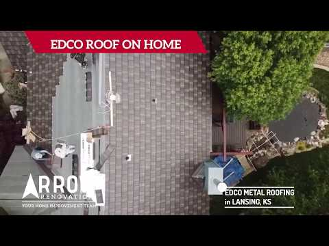 EDCO Metal Roof Installed on Home in Lansing, KS