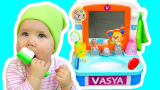 This Is The Way We Brush Our Teeth - Nursery Rhyme Song by Vasya