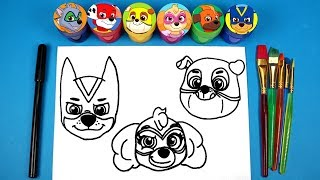 Paw Patrol Mighty Pups Draw & Color Paw Patrol Surprise Toys