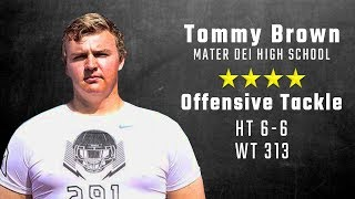 Tommy Brown highlights   4-star Alabama OT signee from Mater Dei
