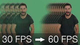 Как сделать 60 FPS из любого видео