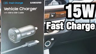 Samsung 15W Fast Charge Car Charger mini USB TO USB-C Review 2019