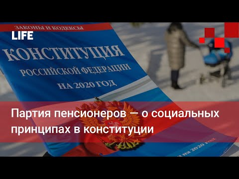 Партия пенсионеров — о социальных принципах в конституции