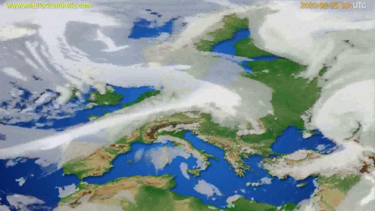 Cloud forecast Europe // modelrun: 00h UTC 2020-02-24