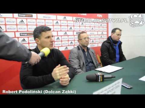 Konferencja prasowa po meczu Dolcan Ząbki - Stomil Olsztyn
