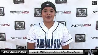 2023 Ava Mendoza Athletic Third Base Softball Skills Video - Club All Star Fastpitch