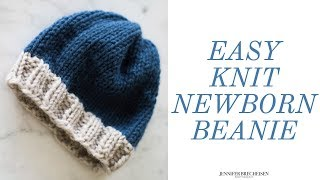 HOW TO KNIT YOUR FIRST NEWBORN BEANIE | DOUBLE POINTED NEEDLES | DIY PHOTOGRAPHY PROP TUTORIAL