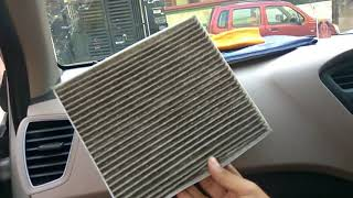 Car AC filter Cleaning | Steps to Clean Car AC filter at home. | Elite i20 AC filter