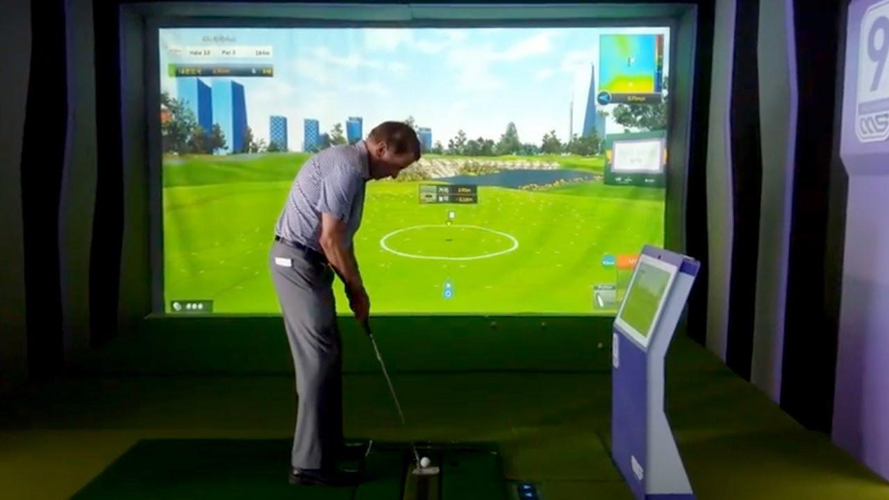 """PGA 회장 """"팀핀첨"""" 스크린 시타"""