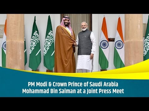 PM Modi & Crown Prince of Saudi Arabia Mohammad bin Salman at a Joint Press Meet