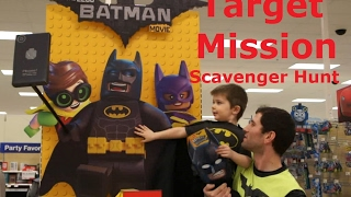 Target Store Lego Batman Movie Scavenger Hunt Mission Event and Blind Bag Minifigures Family Fun