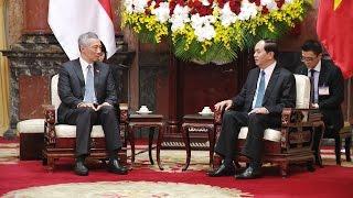 Chủ tịch Quốc hội Nguyễn Thị Kim Ngân hội kiến với Thủ tướng Singapore