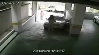 Most Stupid Driver Caught On CCTV!
