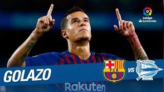 Golazo de Coutinho (2-0) FC Barcelona vs Deportivo Alavés