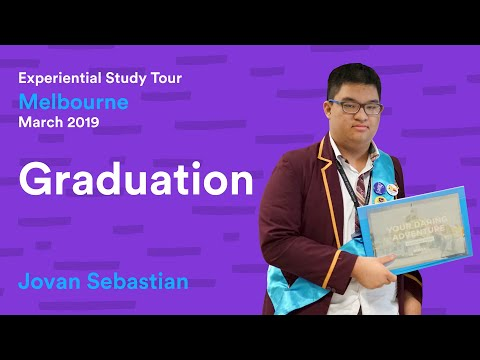 VOOYA x BINUS Serpong Melbourne March 2019 Graduation - Jovan