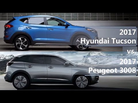2017 Hyundai Tucson vs 2017 Peugeot 3008 (technical comparison)