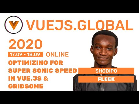 Image thumbnail for talk Optimizing for Super Sonic Speed in Vue.js & Gridsome