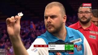 2018 World Cup of Darts Round 1 Russia vs Spain