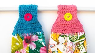 Crochet Towel Holder - Topper For Kitchen Towels By Naztazia