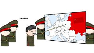 Stalin pointing at countries and declaring them communist for 1hour - From Oversimplified's Cold War